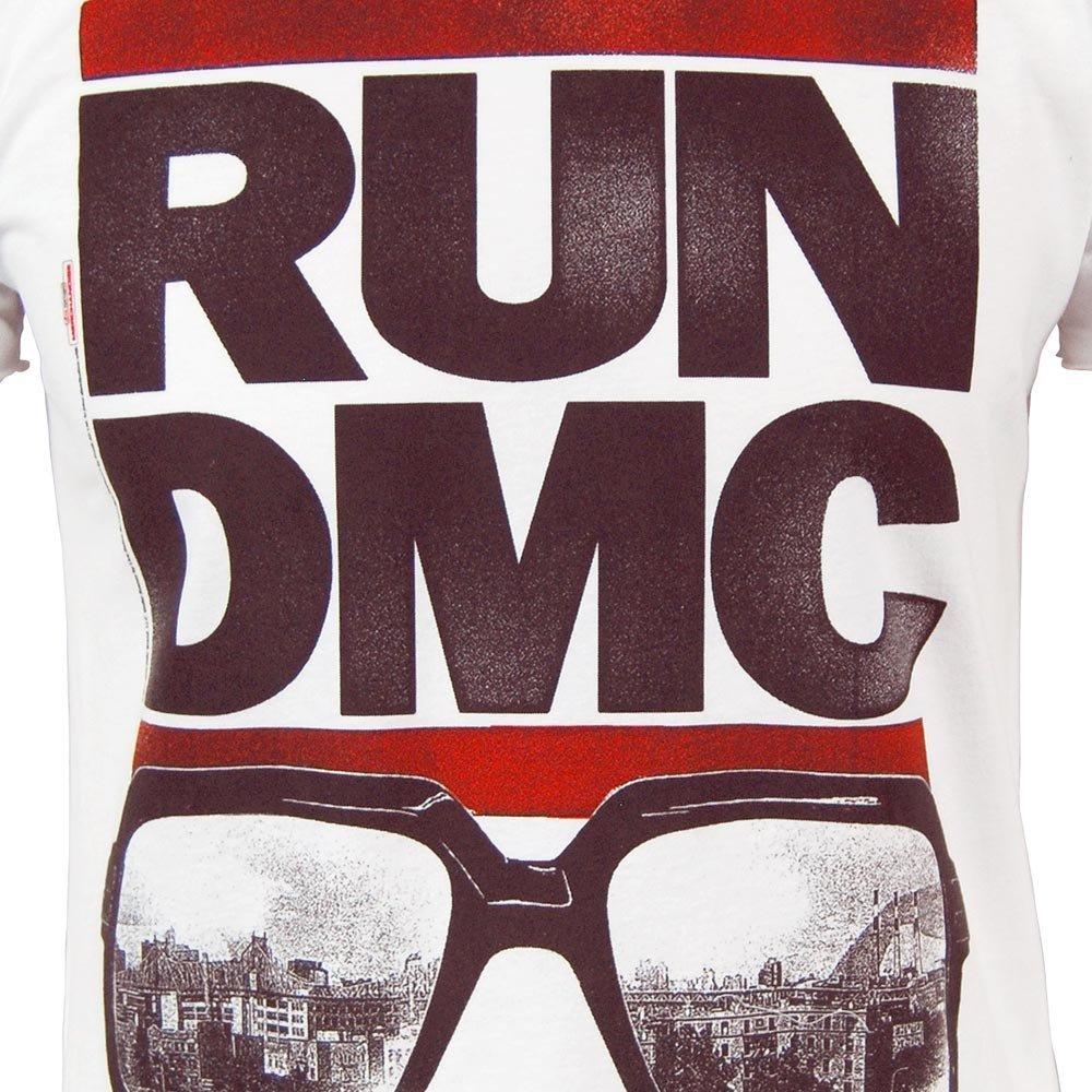 beac2b4898e Amplified Mens RUN DMC Glasses T Shirt White White XX-Large  Amazon.co.uk   Clothing