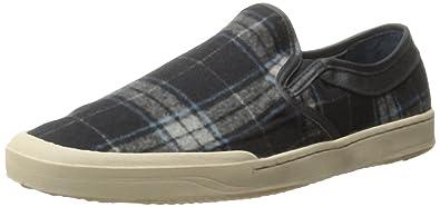 G.H. Bass & Co. Men's Hopewell Fashion Sneaker, Black/Gray/Blue,