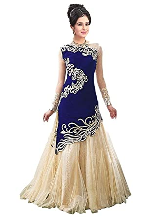 Rangrasiya Women's Velvet and Net Lehenga Choli: Amazon.in ...
