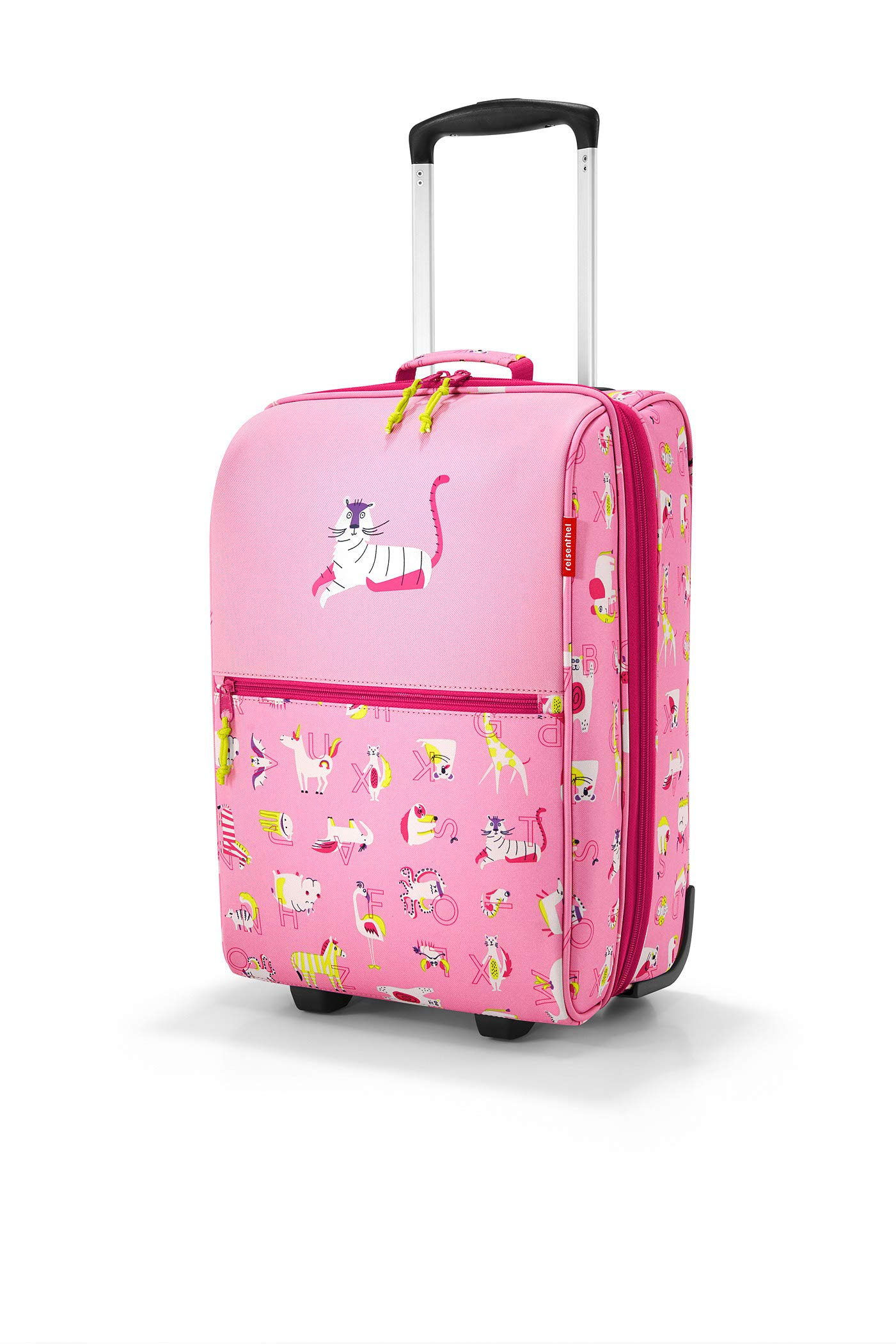 reisenthel Trolley XS Kids Luggage, Lightweight Compact Roller Bag, ABC Friends Pink