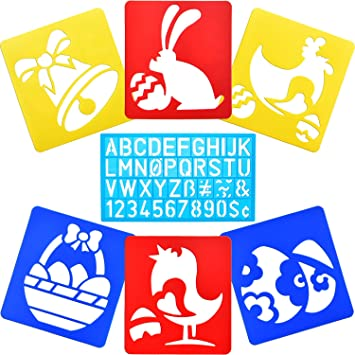 Ostern Schablonen Waschbar Schablonen Brief Nummer Vorlage Für