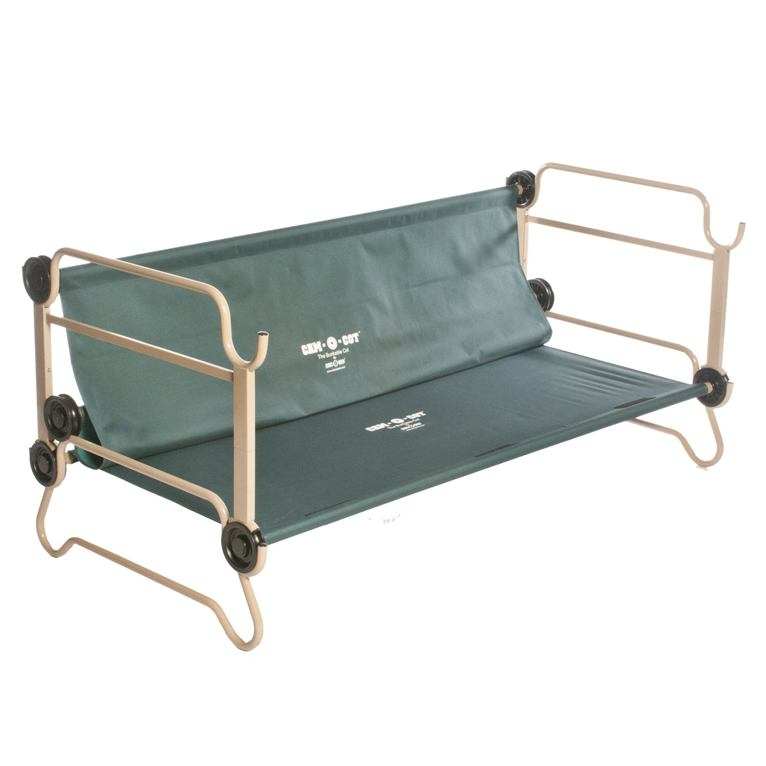 Disc O Bed Cam Bunk Cot With Organizers And Leg Extensions Large Amazoncouk Sports Outdoors