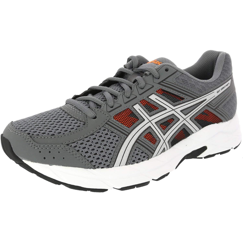 ASICS Men's Gel-Contend 4 Carbon/Silver Shocking Orange Ankle-High Running Shoe - 7.5M