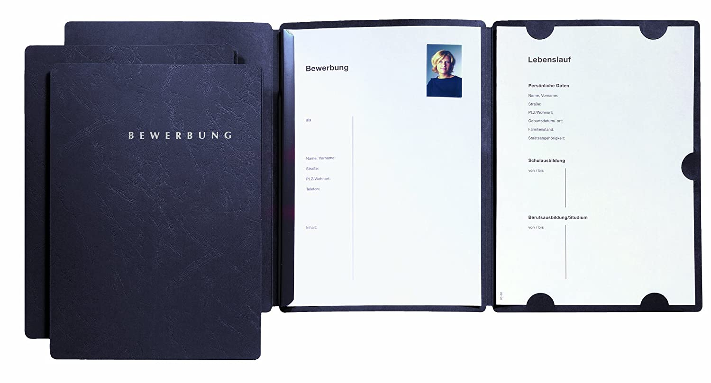 Pagna Bewerbungsset Select Basic (3 Bewerbungsmappen) schwarz: Amazon.de:  Bürobedarf & Schreibwaren