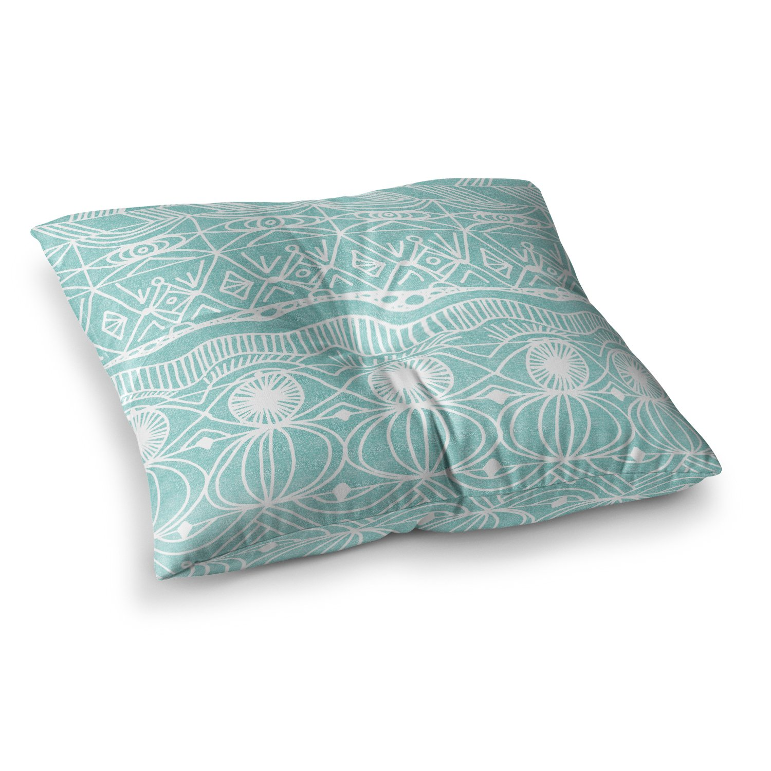 KESS InHouse Catherine Holcombe Beach Blanket Bingo Square Floor Pillow x 23'' by Kess InHouse