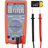 Robao Digital Multimeters A9205M Electronic Amp Volt Ohm Voltage Multi Tester Multimeter with Transistor hFE Tester Diode and Continuity Test LCD Display