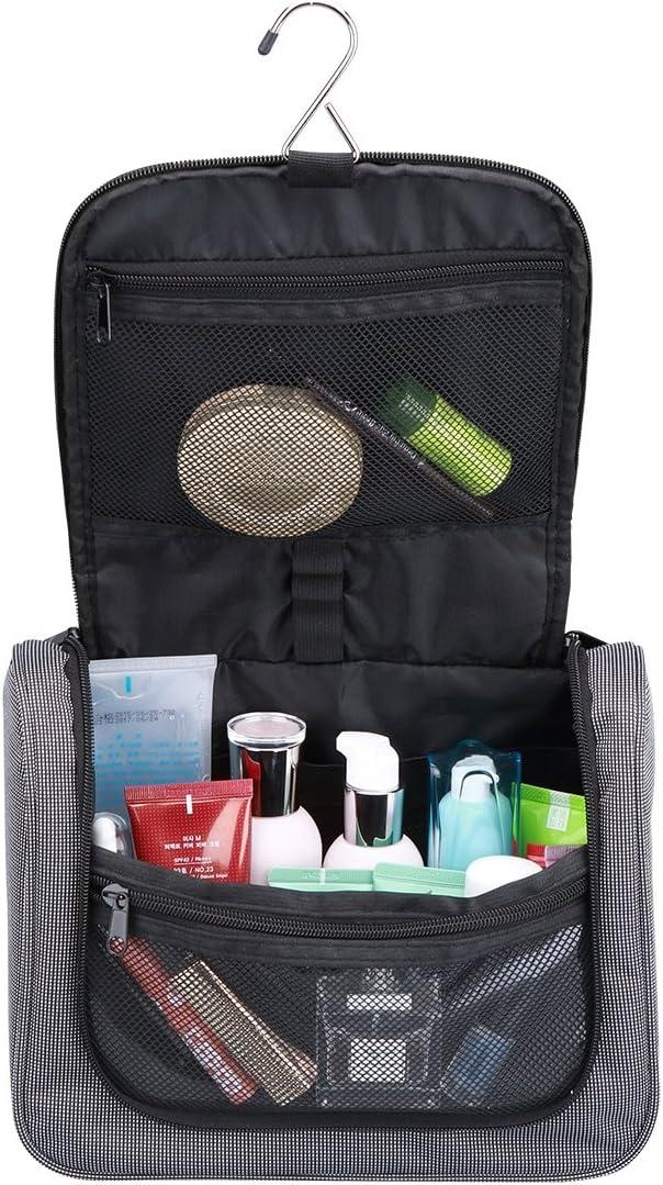 FEDER Kulturbeutel Compact I Gro/ße Reise-Kulturtasche zum Aufh/ängen f/ür Damen und Herren I Kosmetik-Tasche zum H/ängen I Waschtasche Waschbeutel Toilettentasche mit vielen F/ächern