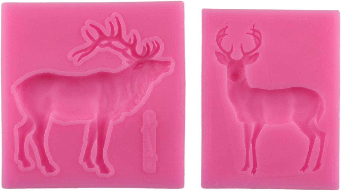 Silicone form reindeer deer mold reindeer christmas molds oktoberfest silicone mold food jewelry mold Resin mold