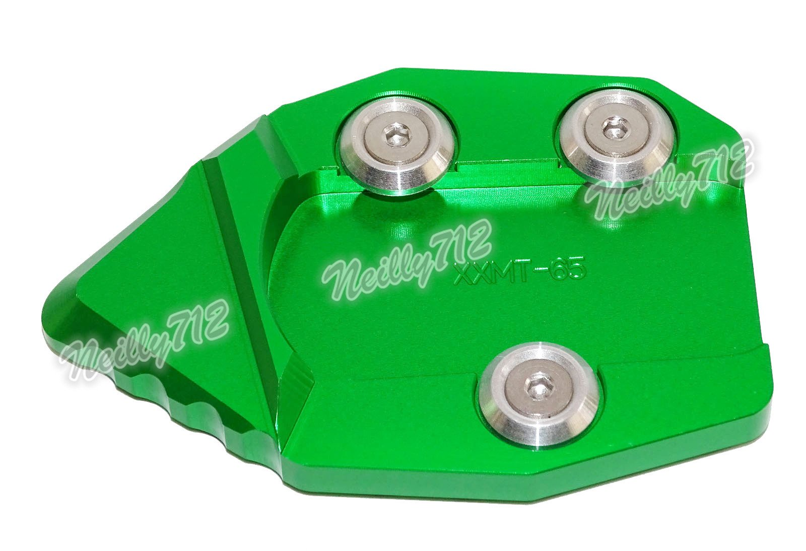waase Motorcycle Kickstand Foot Side Stand Extension Pad Support Plate For KAWASAKI VN650 Vulcan S 650 EN650 2015 2016 2017 (Green)