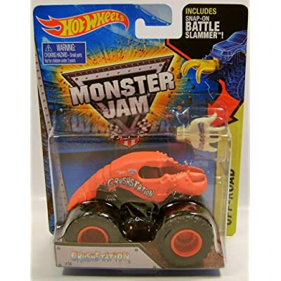 CRUSHSTATION LOBSTER TRUCK MONSTER JAM TRUCK DIECAST HOT WHEELS 2015 includes battle slammer: Toys & Games
