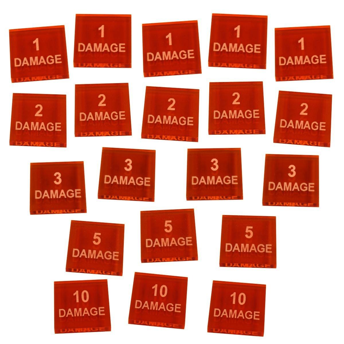 Numbered Damage Token Set (20)