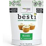 Wholesome Yum Besti Keto Powdered Allulose Sweetener - Natural Powdered Sugar Replacement (16 oz / 1 lb) - Non GMO, Zero…