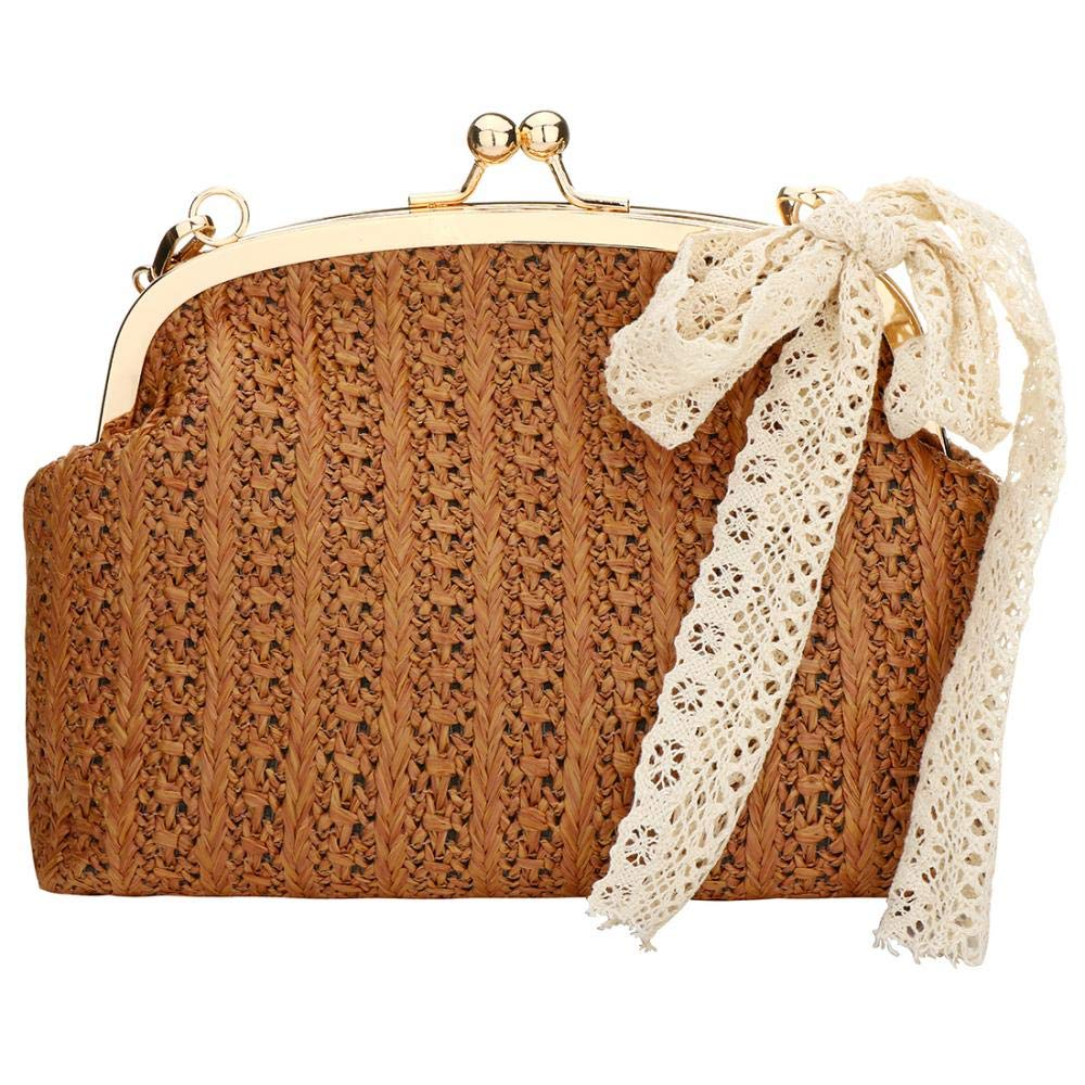 Large Weave Straw Clutch...
