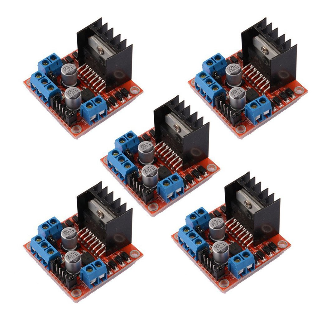 SODIAL(R) 5 PCS L298N Motor Drive Controller Board DC Dual H-Bridge Robot Stepper Motor Control and Drives Module for Arduino Smart Car Power UNO MEGA R3 Mega2560