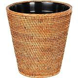 KOUBOO La Jolla Rattan Plastic Insert, Honey-Brown Waste Basket