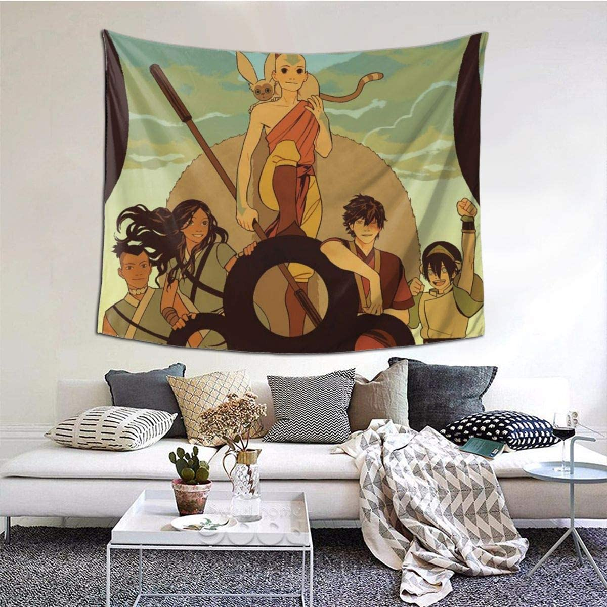 LuchinoVisconti Avatar The Last Airbender Wall Tapestry Wall Hanging Tapestry for Bedroom Living Room Dorm Decor in 51×60 in