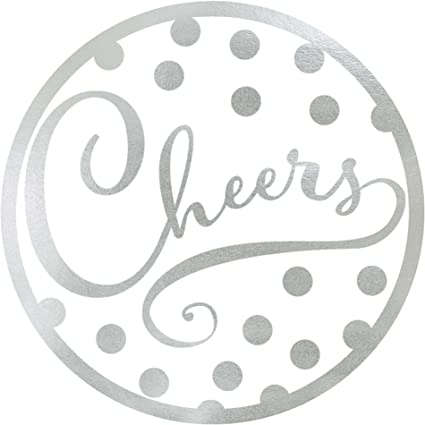 Amazon Com Amscam Party Supplies Cheers Coaster Silver 18 Ct Toys Games
