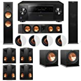 Dolby Atmos 7.2.4 Klipsch RP-280F Tower Speakers R112SW with Pioneer Elite SC-85