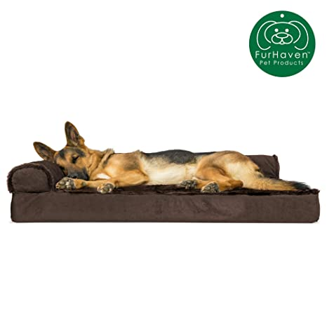 Awesome Furhaven Pet Dog Bed Orthopedic L Shaped Chaise Lounge Sofa Style Living Room Corner Couch Pet Bed W Removable Cover For Dogs Cats Available In Machost Co Dining Chair Design Ideas Machostcouk