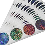 """Glitter Silver 1"""" Round (Quarter size) Scratch Off Stickers Label, Reflects multi colored in natural light, Perfect DIY, Pack of 100 My Scratch Offs"""