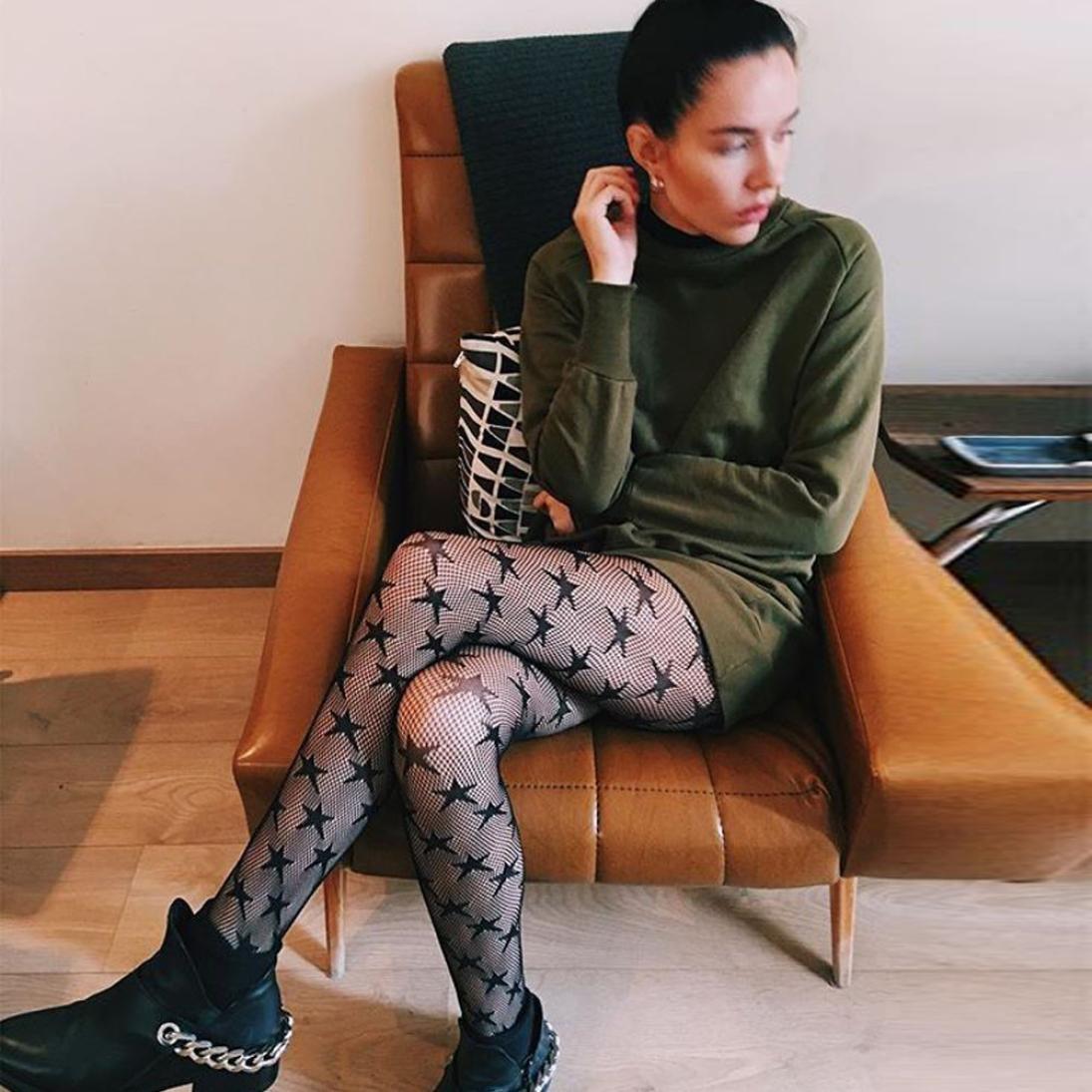 Amazon.com: Dingji Ladys Fishnet Elastic Hosiery, Sexy Black Fishnet Shape High Stockings Pantyhose Tights (A): Clothing