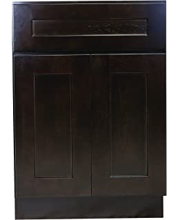 Design House 561969 Brookings 27 Inch Base Cabinet, Espresso Shaker