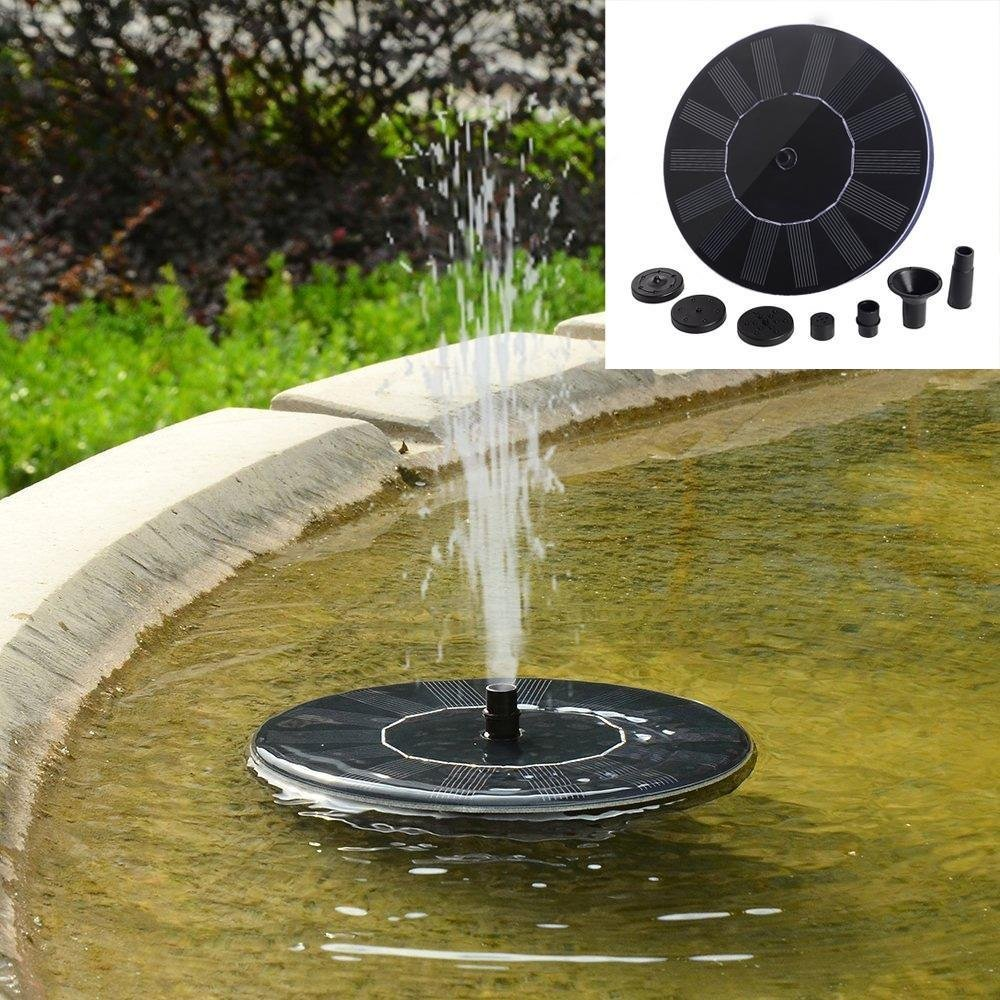 Energy Controllers Solar Powered Bird Bath Fountain Pump Outdoor Water Fountains Garden Pool Aquarium Pool Pool Garden Pond Submersible Submersible solar powered charger