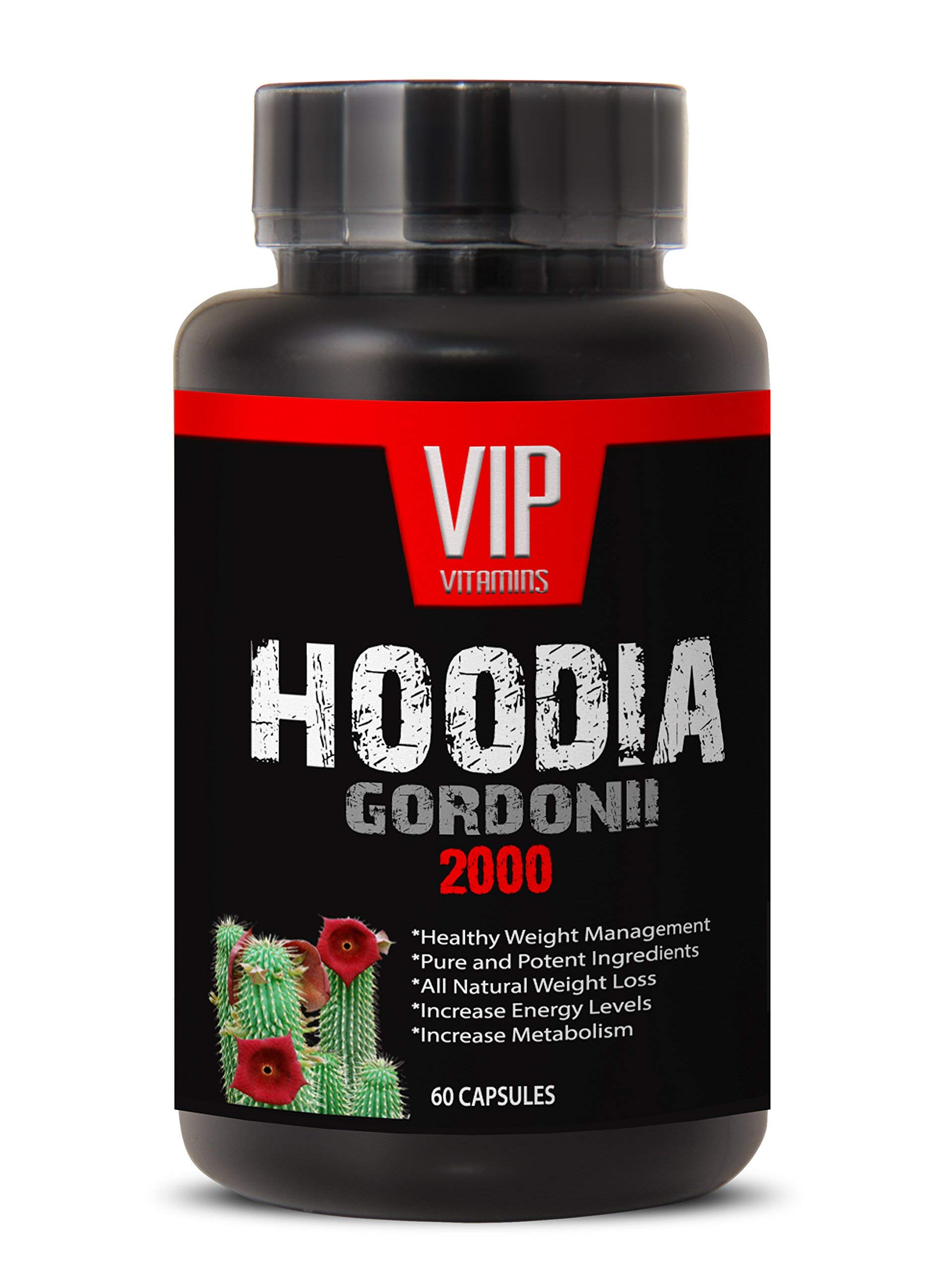 Hoodia Gordonii Extract for Weight Loss - Pure Hoodia Gordonii Extract 2000mg - Hoodia Gordonii Highly Effective Appetite Suppressing (1 Bottle 60 Capsules)