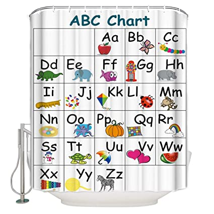 image about Abc Chart Printable referred to as : Futuregrace Artwork Print Shower Curtains, Infants