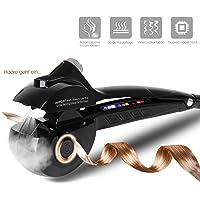 Baytter Automatischer Lockenwickler mit Dampffunktion Haarpflege LED-Display Spray Curling Machine große/mittle/kleine Locken einstellbar (190°C-210°C -230°C), gutes Geschenk für Frau