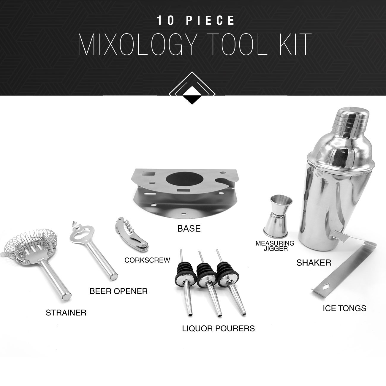 Sorbus Cocktail Shaker And Mixing Set Deluxe 10 Piece