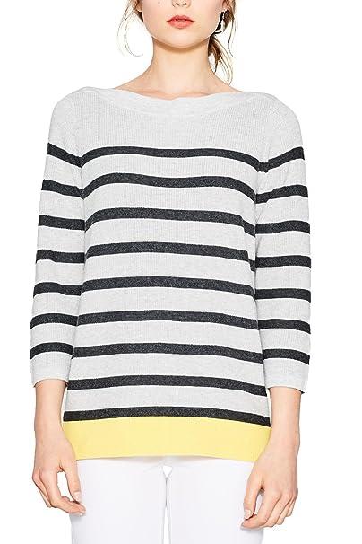 Esprit 077ee1i006, Suéter para Mujer, Multicolor (Light Grey 5 044), X-Small