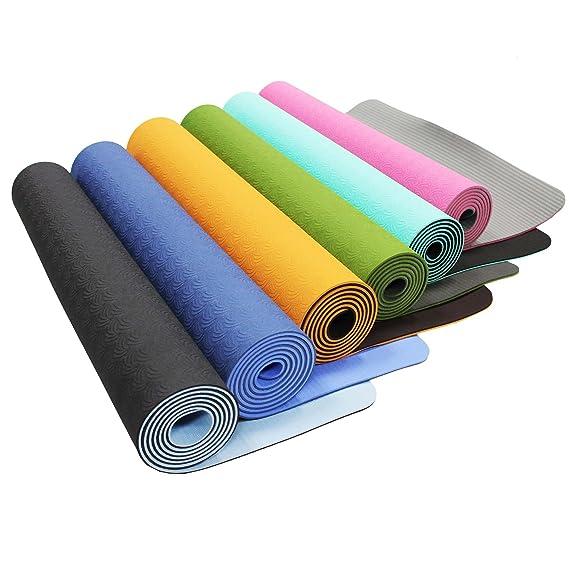 #DoYourYoga® Rutschfeste Yogamatte aus TPE-Material in der Größe 183x61x0,5cm - Lieferumfang inkl. Tragebänder/ideale Matte f