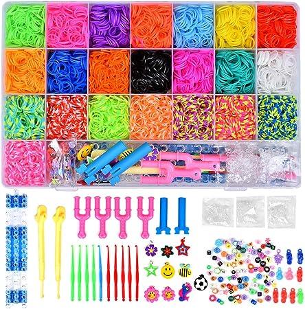 Towinle Caja Pulseras Gomas 6800 Bandas de Silicona Para Hacer Pulseras De Colores Loom Kit para Pulseras: Amazon.es: Hogar