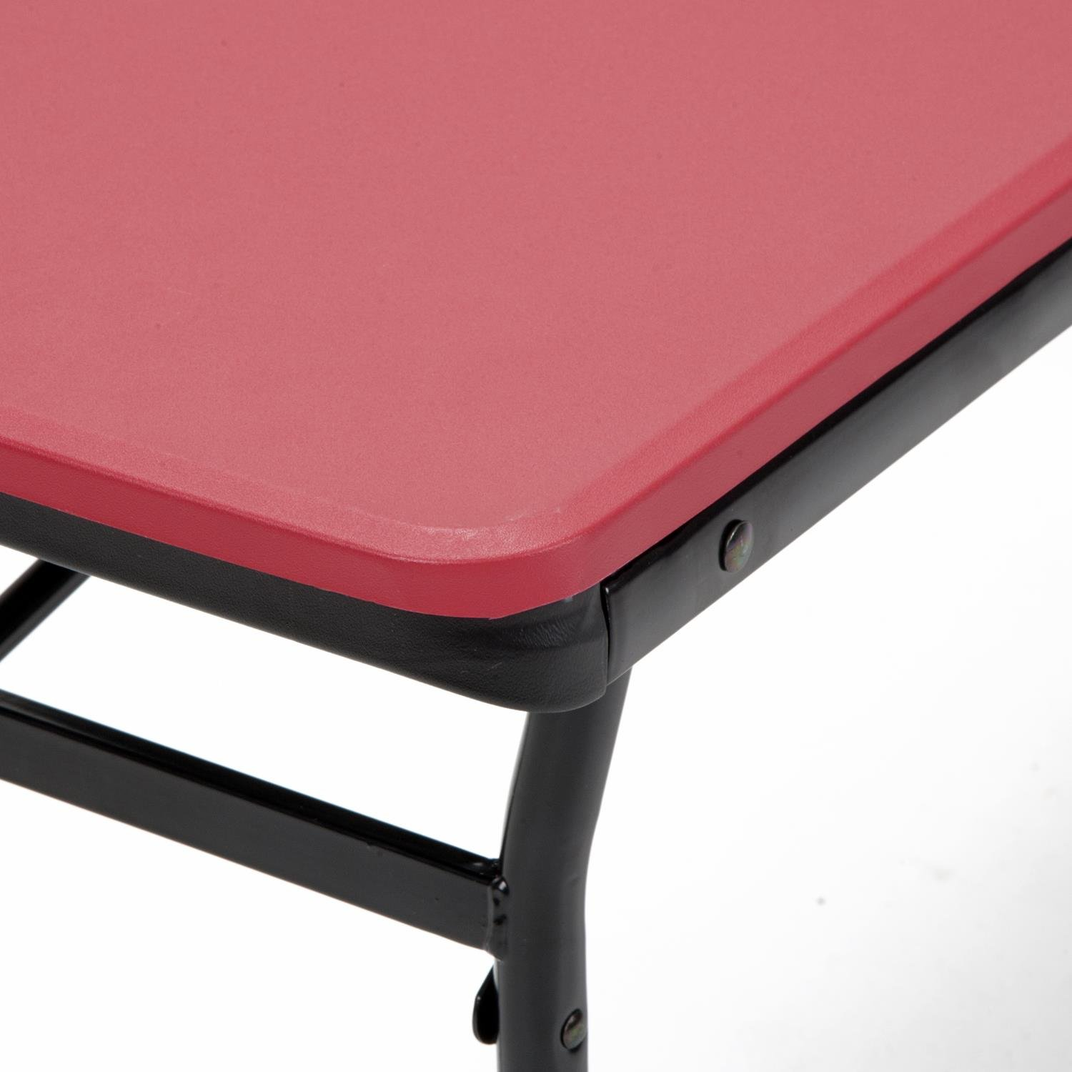 COSCO 6 ft. Indoor Outdoor Center Fold Tailgate Bench with Carrying Handle, Red Bench Top, Black Frame, 2-pack by Cosco Outdoor Living (Image #8)