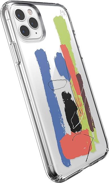 Speck Funda Protectora para iPhone 11 Pro Max Estuche Antichoque Duradero Resistente para Teléfono Móvil Smartphone Apple - Presidio Clear + Glitter - Transparente/Azul: Amazon.es: Electrónica