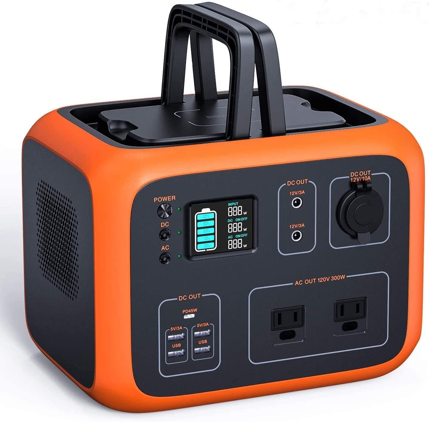 TACKLIFE Portable Power Station, 500Wh Outdoor Solar Generator with Pure Sine Wave 110V AC Outlets QI-Certified Wireless Charging USB-C PD 45W,recharged by Solar Panel Wall Outlet Car