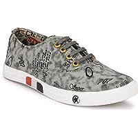 Harmeet Men's Sneaker Casual Canvas Shoes-Grey