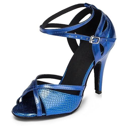 8406d9ec9e1 Yiteli Women s Latin Ballroom Dance Shoes Salsa Tango Open-Toe Sandals