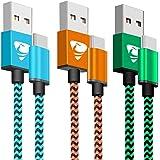 USB Type C ケーブル【2M 3本セット】AIONEUS タイプ C ケーブル 急速充電 USB充電ケーブル 高速データ転送 USB同期&充電 Huawei P10/P20 lite、Sony Xperia XZ/XZ2、 Samsung Galaxy S8/S9、Moto G6、Nintendo Switch Type-C 対応 USB-A to USB-C ケーブル