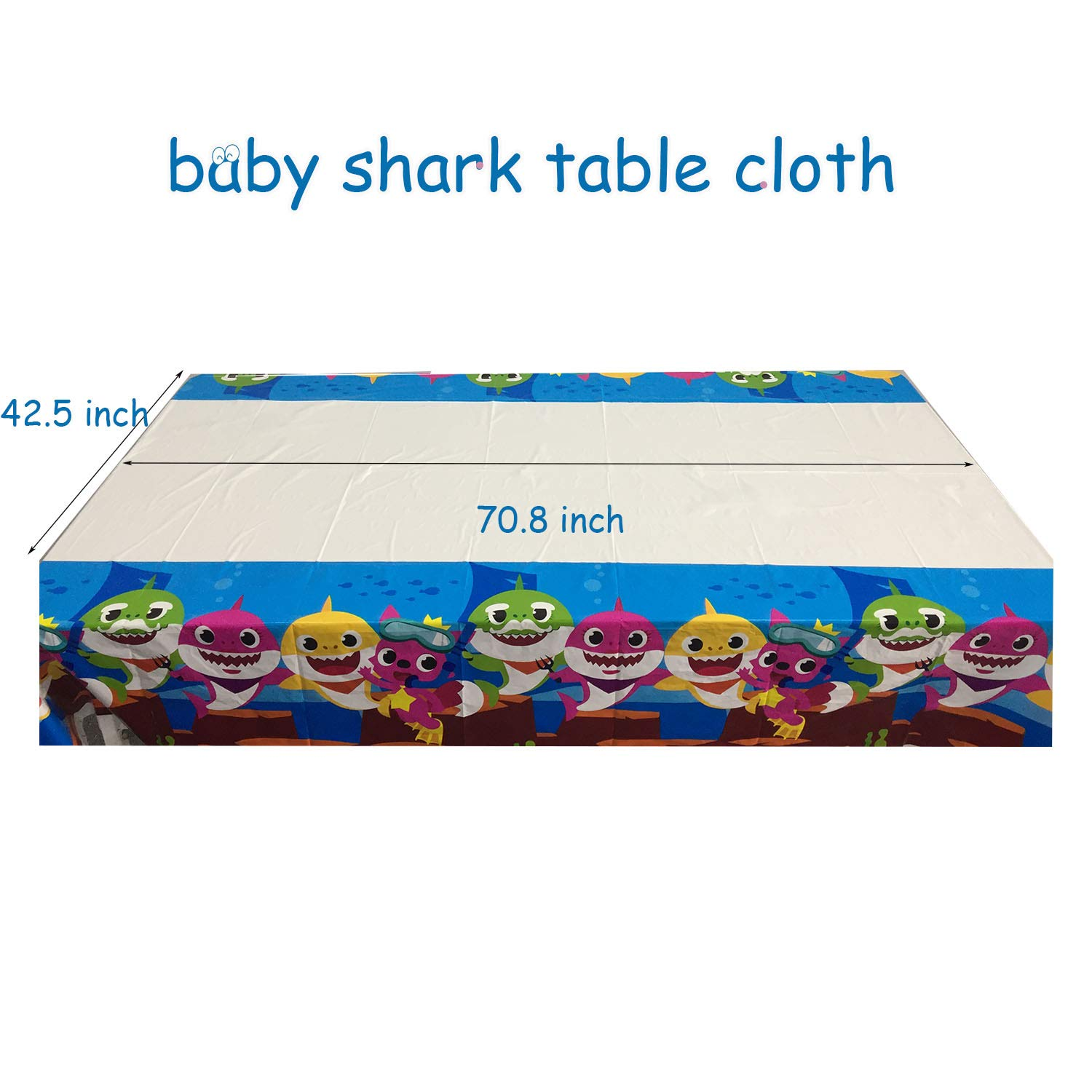 Baby Shark Party Supplies Set - 109 Pcs Baby Shark Themed Birthday Decorations Includes Disposable Tableware Kit Blowing Dragon Paper Hat Gift Bag and Banner - Serves 10 Guest by AiParty (Image #7)