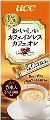 UCC おいしいカフェインレス カフェオレ スティックコーヒー (5P×6箱) 30杯
