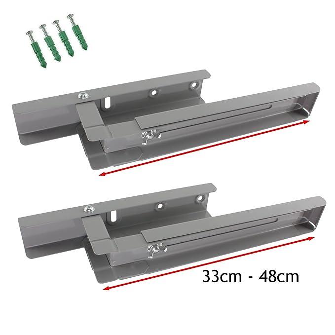 Spares2go Soportes de montaje de pared extensibles para microondas ...
