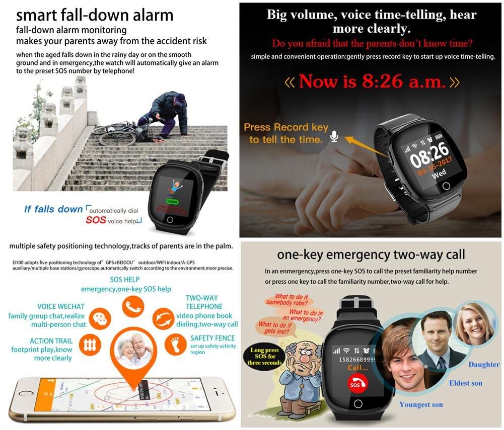 Amazon.com: Joyeer Smart Watch Heart Rate Monitor GPS+LBS+ ...