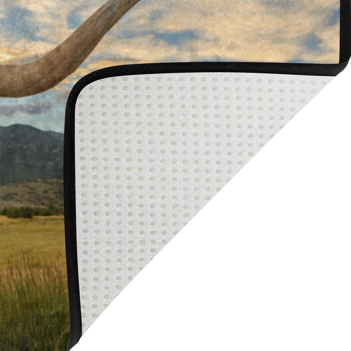 Amazon.com: La Random Texas Longhorn Steer Bathroom Shower Curtain ...