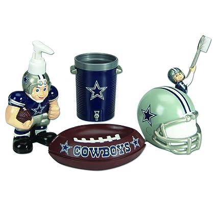 Amazon Com Dallas Cowboys Bathroom Set Bathroom Accessory Sets
