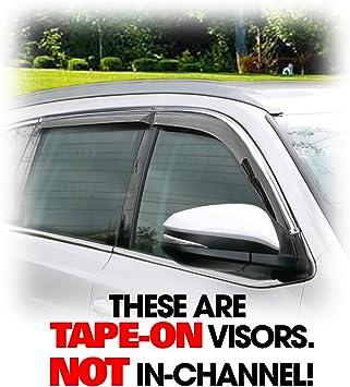 Chrome Side Window Visor Deflector Sun Rain Guard Shield For Toyota Highlander
