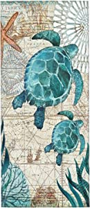 XWQWER Sea Turtle Ultra Soft Highly Absorbent Decor Hand Towels, Dish Guest Towel Multipurpose for Bathroom Kitchen Gym Hotel Spa and Home(27.5 x 12 in)
