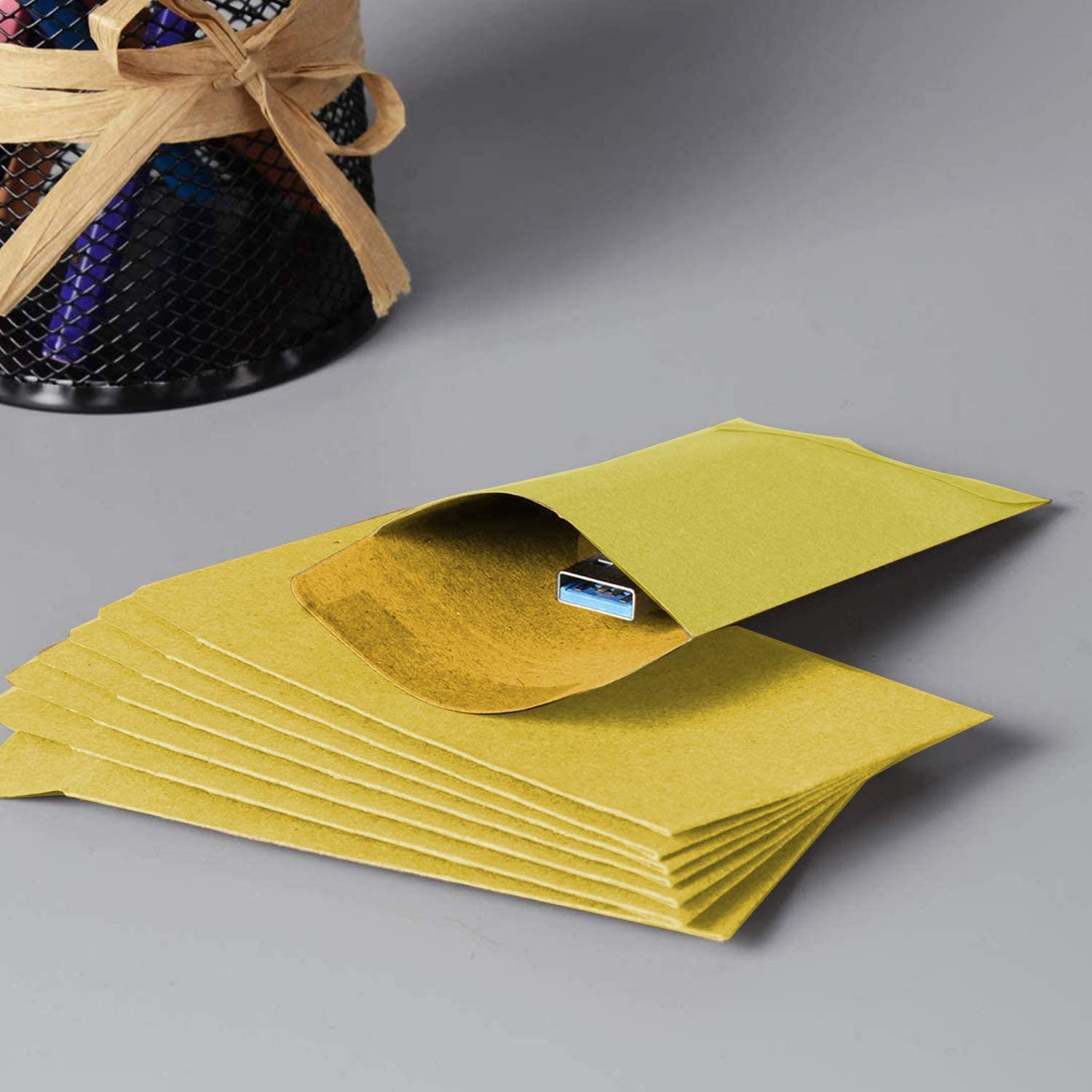 Paper Envelope Jewelry Seeds Office or Wedding Gifts 6cm /× 9cm Stamps or Small Parts 100 Mini Kraft envelopes Seed Envelope Suitable for Garden Can Store Coins