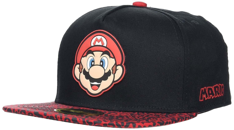 Meroncourt Nintendo Super Bros. Mario Face Snapback Baseball Cap ...